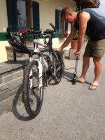 Aftrainen met de mountainbike